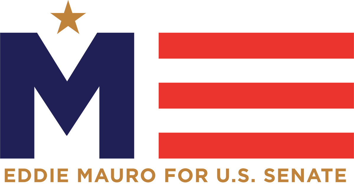 Eddie Mauro for Senate Logo