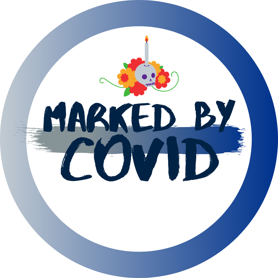 Marked by COVID logo