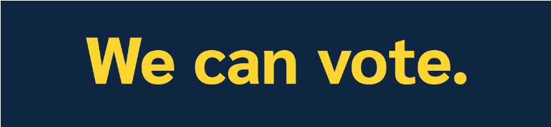 we can vote logo
